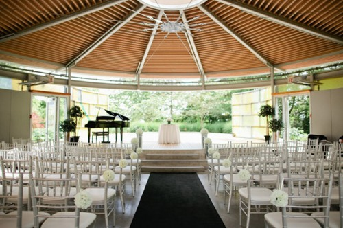 Indoor ceremony venue at Celebration Paviliion in Queen Elizabeth Park in Vancouver
