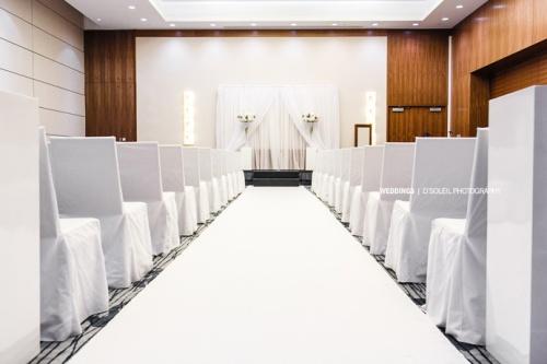 indoor wedding ceremony at Fairmont Pacific Rim Vancouver.