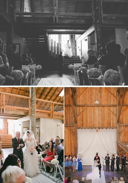 Indoor wedding ceremony venue at Kirkland House in Ladner.