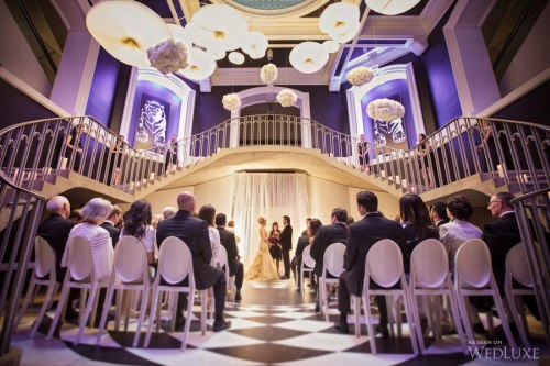 Indoor wedding ceremony venue at the Vancouver Art Gallery