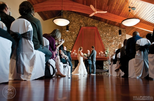 Indoor wedding ceremony venue in Coquitlam at The Vancouver Golf Club